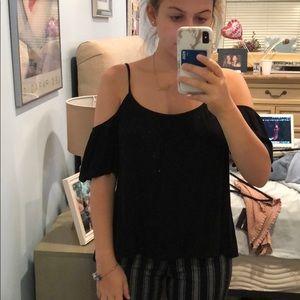 Black off shoulder shirt